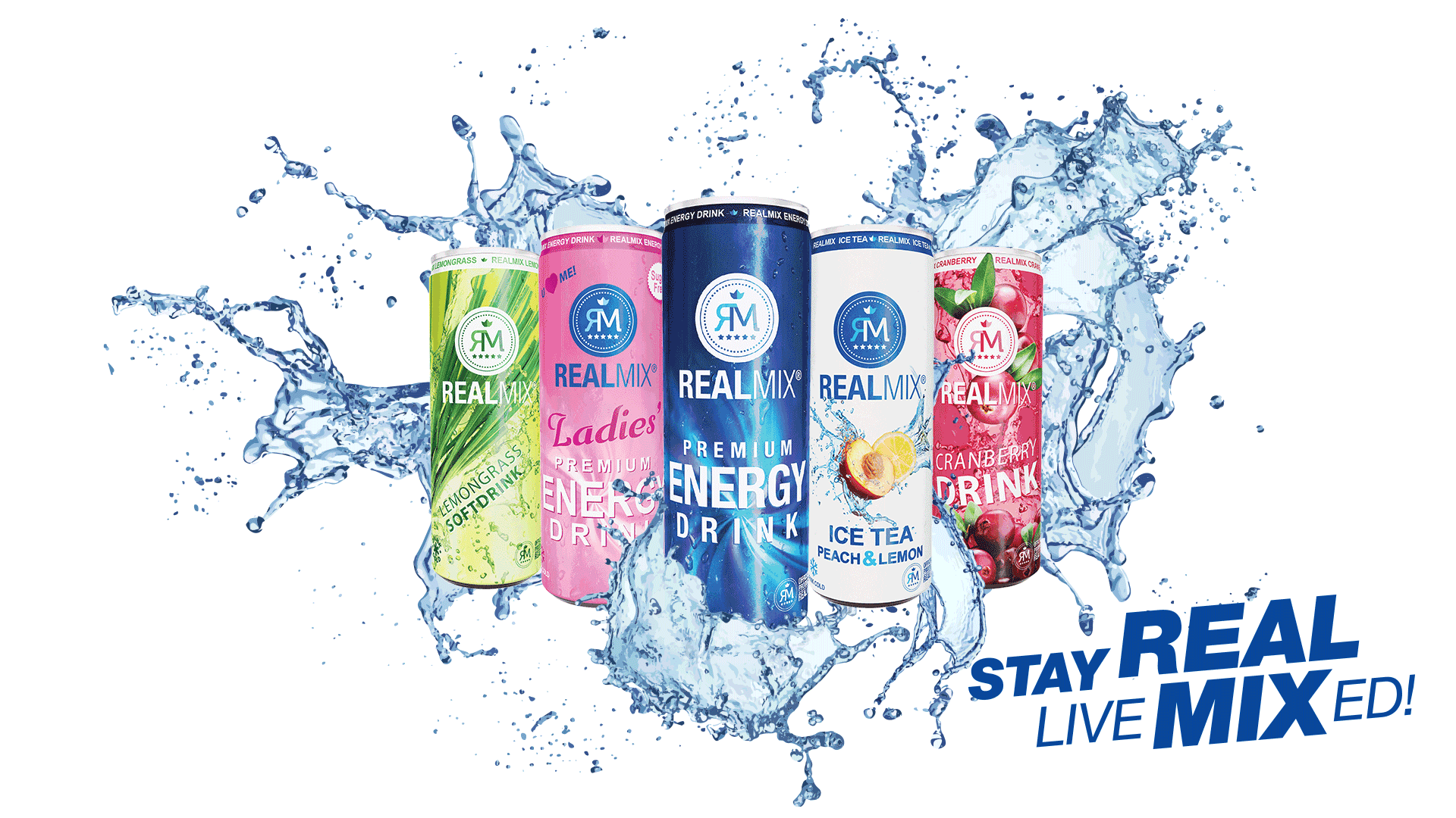 REALMIX Beverages Premium Energydrink - Stay REAL, live MIXed!